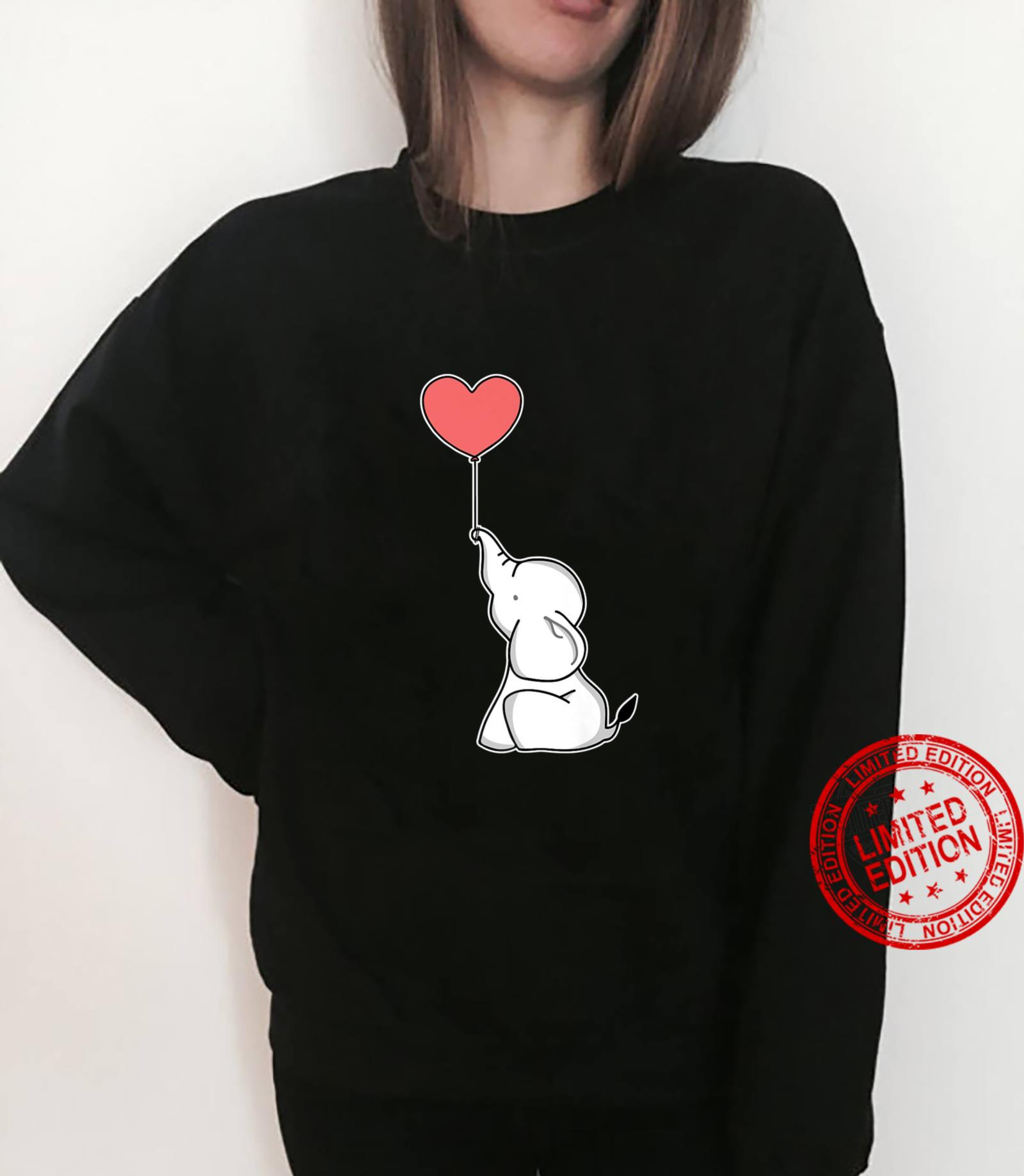 Cute Baby Elephant with Heart Balloon Shirt sweater