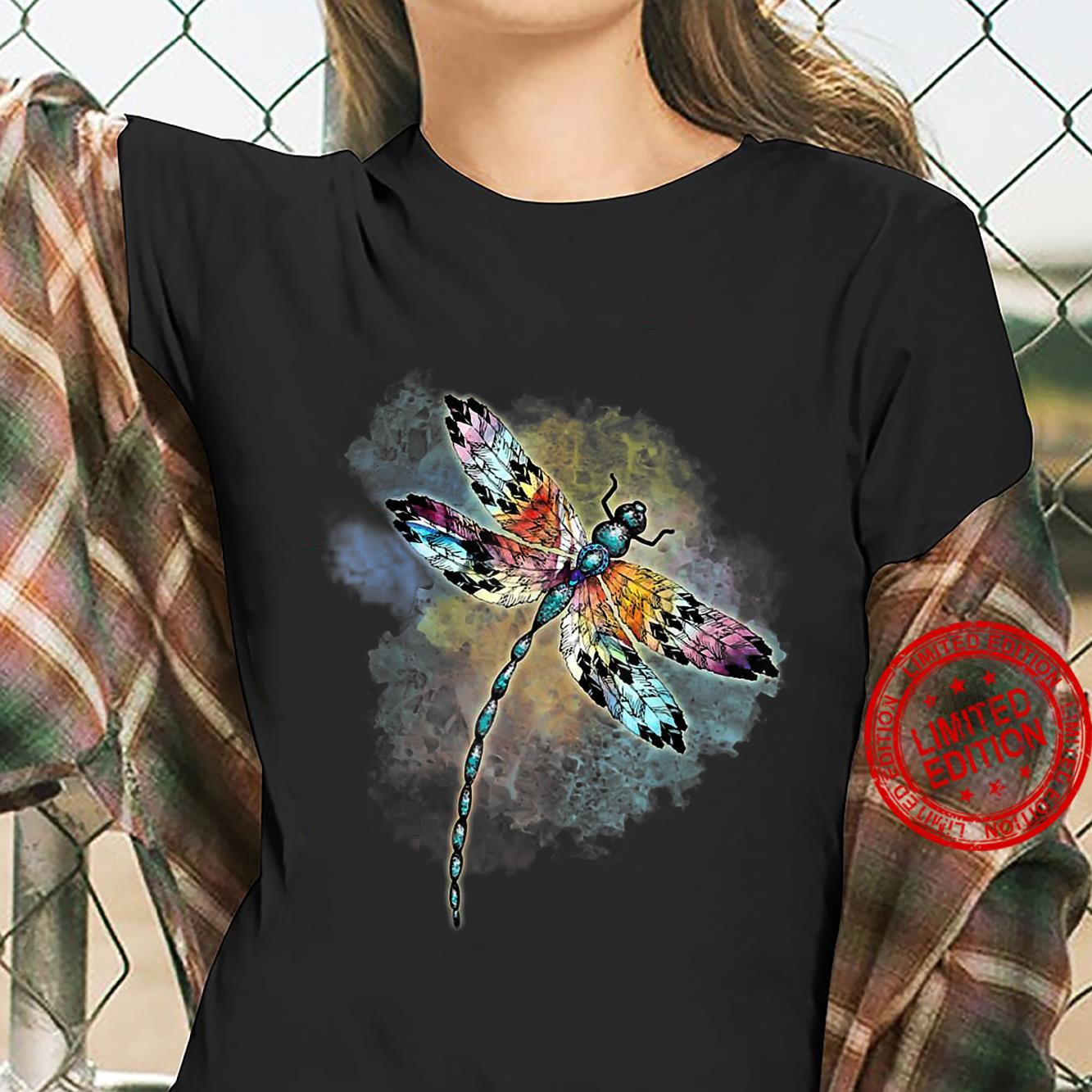 Dragonfly Colorful The Change Inside Of Me Shirt ladies tee