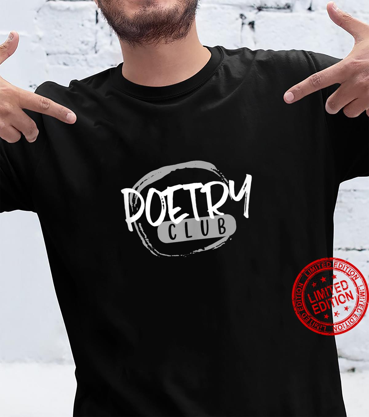 Poetry Club Vintage Style Writer Shirt