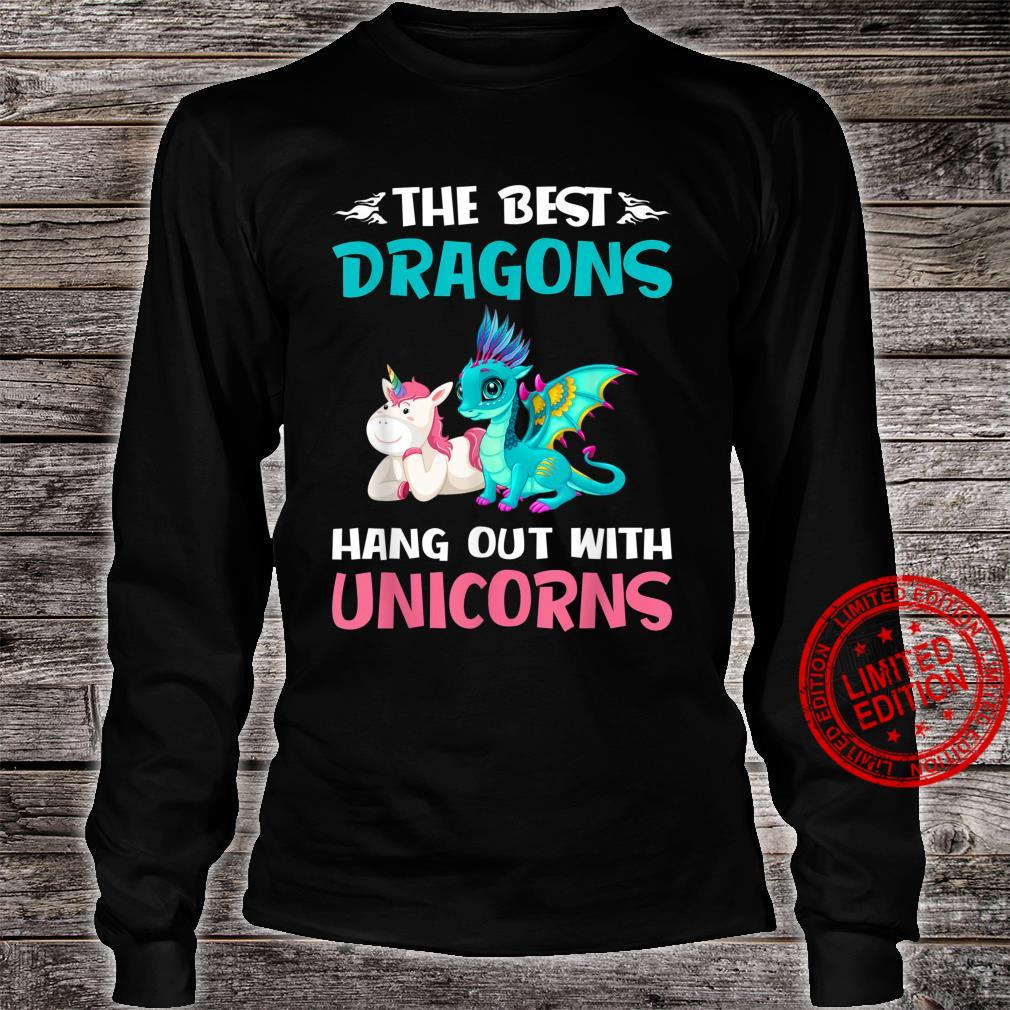 The Best Dragons Hangout With Unicorns Shirt long sleeved
