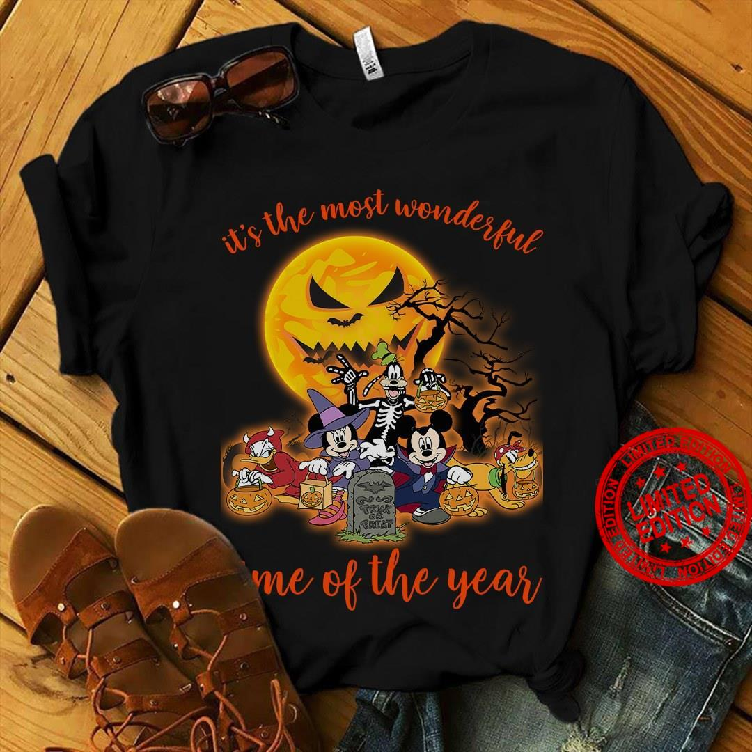 Disney Halloween It's The Most Wonderful Time Of The Year Shirt