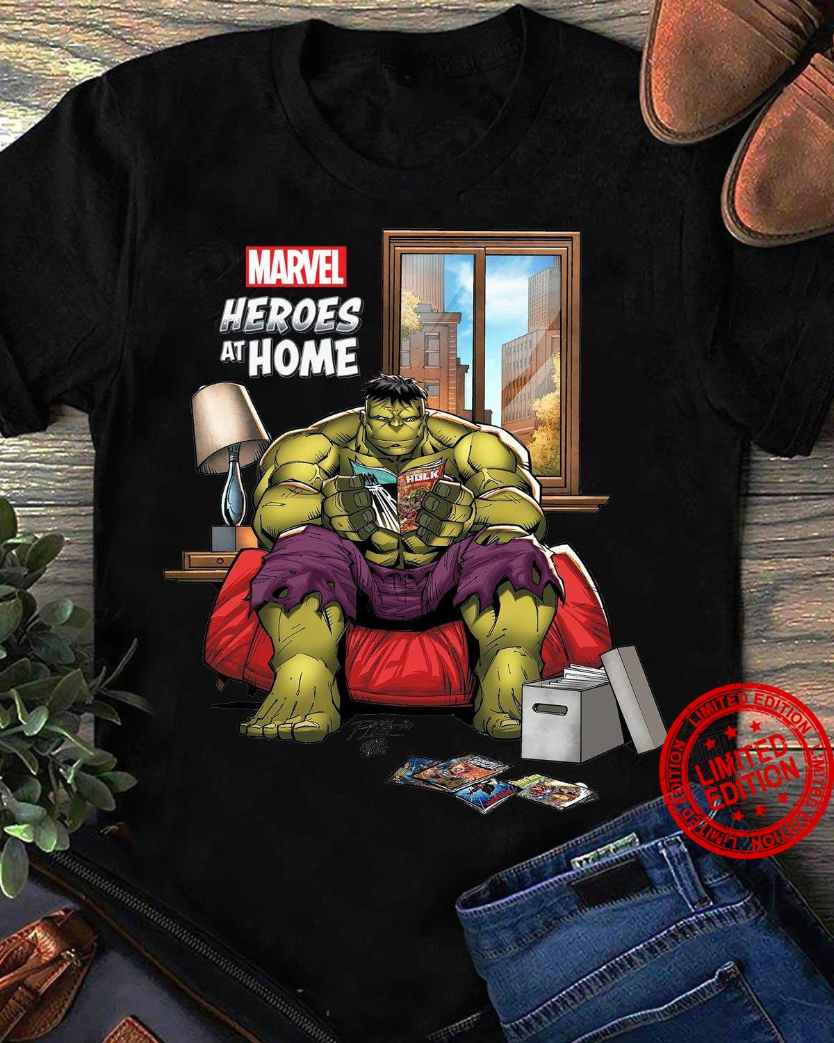 Marvel Heroes At Home Shirt